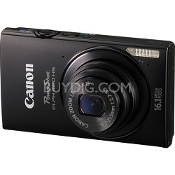 PowerShot ELPH 320 HS 16MP Black Digital Camera 5x Optical Zoom 3 inch Touch LCD