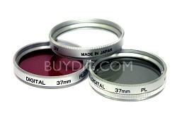 28mm UV, Polarizer & FLD Deluxe Filter kit (set of 3 + carrying case)