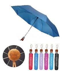 "CKS2502 Red 42"" Automatic Open/Close Wood Handle Umbrella"