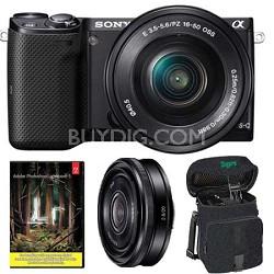NEX-5TL Camera with 16-50mm + SEL 20mm f2.8 + Adobe Lightroom 5