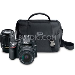 D3200 24.2MP DSLR Camera Kit with 18-55mm DX & 55-200mm DX Lenses And Nikon Bag