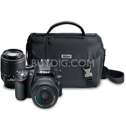 D3200 24.2MP DSLR Camera Kit with 18-55mm DX & 55-200mm DX Lenses And Nikon Bag