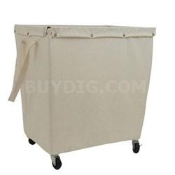 Khaki Commercial Canvas Hamper on Casters - 4569005