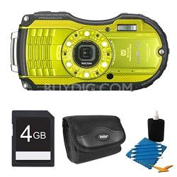 WG-4 16MP HD 1080p Waterproof Digital Camera Lime Yellow 4GB Kit