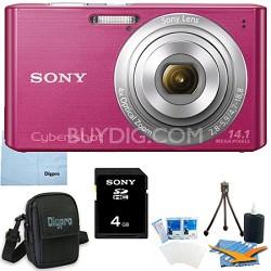 Cyber-shot DSC-W610 Pink 4GB Digital Camera Bundle