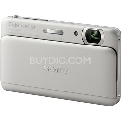"Cyber-shot DSC-TX55 Silver Slim Digital Camera w/ 3.3"" OLED Touchscreen"