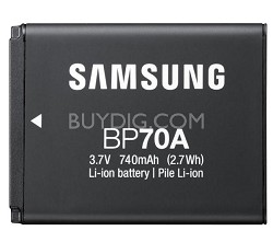 BP-70A Rechargeable Lithium-Ion Battery for Select Samsung Cameras