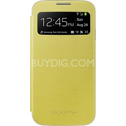 Galaxy S IV S-view Flip Cover Yellow