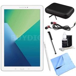 Galaxy Tab A 10.1 Tablet PC White w/ S Pen, WiFi & Bluetooth w/ Accessory Bundle