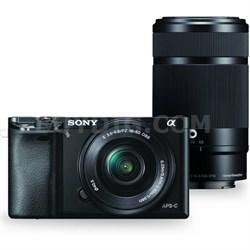 Alpha a6000 Mirrorless Camera w/ 16-50mm & 55-210mm Power Zoom Lenses (Black)