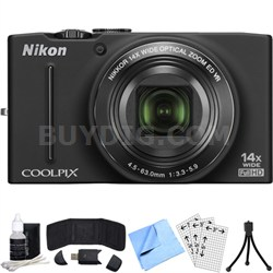COOLPIX S8200 14x Zoom 16MP Digital Camera (Black) Refurbished Bundle
