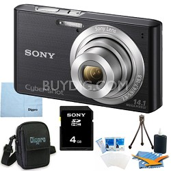 Cyber-shot DSC-W610 Black 4GB Digital Camera Bundle