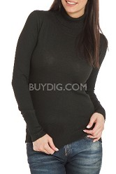 Turtleneck Sweater for Women in Black - Size: Small