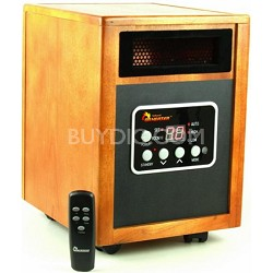 1500W Electric Infrared Quartz + PTC Infrared Heater with Remote