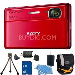 Cyber-shot DSC-TX100V Red Digital Camera 8GB bundle