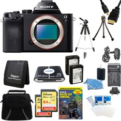 Alpha 7 a7 Digital Camera and 2 64 GB SDHC Cards and 2 Batteries Bundle