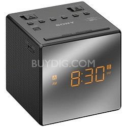 Alarm Clock with FM/AM Radio, Black - OPEN BOX