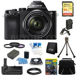 Alpha 7K a7K Digital Camera 64 GB SDXC Card, Filter Kit, and Battery Grip Bundle