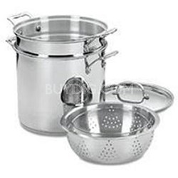 Chef's Classic Stainless Steel 4-Piece 12-Quart Pasta/Steamer Set