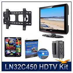 LN32C450 HDTV + Hook-up Kit + Power Protection + Calibration + Tilt Mount