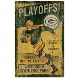 GB Packers Vintage Wall Art