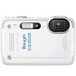 STYLUS TG-630 12MP 3-inch LCD 1080p HD Digital Camera - White