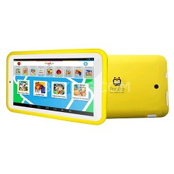PadPal 7 inch Dual Core Family Android Tablet in Yellow