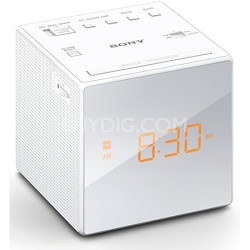 Alarm Clock with FM/AM Radio, White (ICF-C1WHITE) - OPEN BOX
