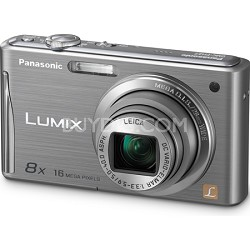 "Lumix DMC-FH27 16MP 8x Zoom Silver Compact Digital Camera w/ 3.0"" Touchscreen"