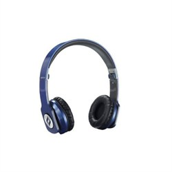 ZORO HD True Sound Headphones w/ Inline Mic & Answer/End Button Blue - OPEN BOX