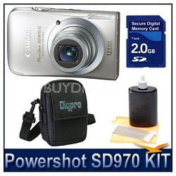 Powershot SD970 Kit w/ 2G SD Card, Case, and More