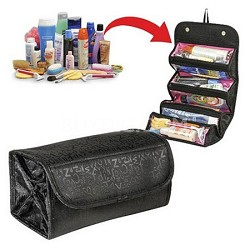 As seen on TV Compartment Roll-up for Cosmetics, Makeup, Jewelry, Toiletries