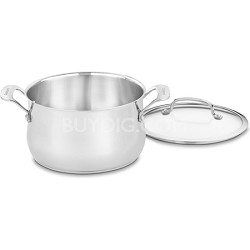 Contour Stainless 5-Quart Dutch Oven with Glass Cover