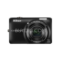 COOLPIX S6300 16MP 10x Opt Zoom 2.7 LCD Digital Camera - Black
