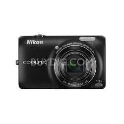 COOLPIX S6300 16MP 10x Opt Zoom 2.7 LCD Digital Camera - Black
