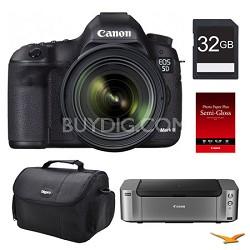 5D Mark III DSLR Camera 24-70mm Lens + Printer / Paper / 32GB Card