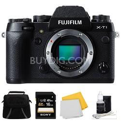 X-T1 16.3MP Full HD 1080p Video Mirrorless Digital Camera - Body Only 16GB Kit
