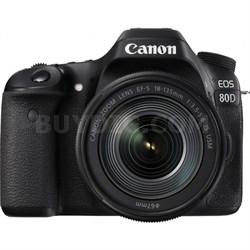 EOS 80D 24.2 MP CMOS Digital SLR Camera w/ EF-S 18-135mm f/3.5-5.6 IS USM Lens