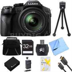 DMCFZ300K LUMIX FZ300 4K 24X F2.8 Long Zoom Digital Camera Black Ultimate Bundle