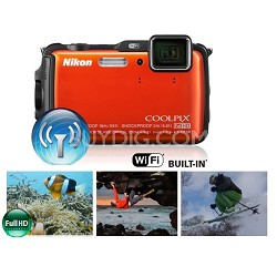 COOLPIX AW120 16MP 1080p Waterproof Shockproof Freezeproof Orange Camera Refurb