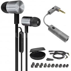 iDX 200 iE Premium In-Ear Headphones Black/Silver - 715735 w/ iFi Audio iEMATCH