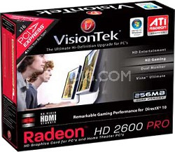 RADEON HD2600PRO PCIE 256MB 2PORT DUAL LINK DVI-I TV/HDTV OUT