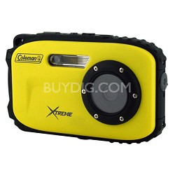 Xtreme C5WP 12MP 33ft. Waterproof Camera, Anti-Shake, Face Detection (Yellow)