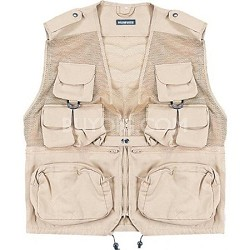 Combat Tactical Vest Khaki Large