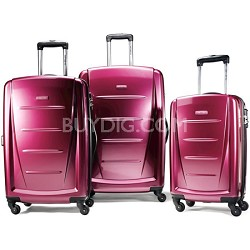 Winfield 2 3 Piece Roller Luggage Set (Solar Rose)