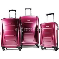 Winfield 2 3 Piece Roller Luggage Set (Solar Rose)