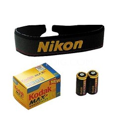 Accessory Kit For Nikon 35mm Cameras - CR2 batteries