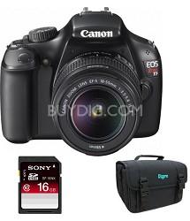 EOS Rebel T3 SLR Digital Camera w/ 18-55mm Lens II Factory Refurbished
