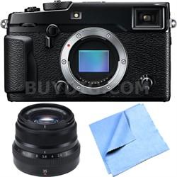X-Pro 2 Mirrorless Digital Camera Body w/ FUJINON XF35mmF2 R WR Lens Bundle