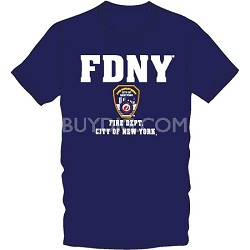 T-Shirt, Officially Licensed FDNY Crewneck Unisex Tee New With Tags(Small)
